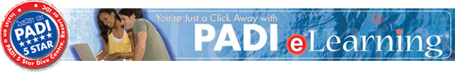 PADI Elearning New Banner