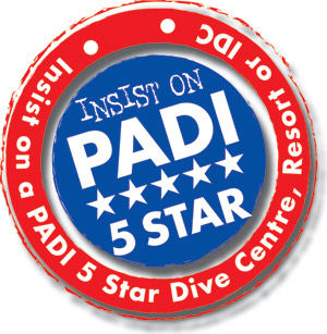 padi 5 star, dive courses