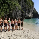 Beach Lunches Maya Bay Koh Phi Phi Thailand