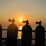 PADI specialty Sunset Dive Tanks koh phi phi thailand