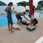 emergency first response course phi phi pool view