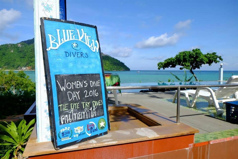 Women's Dive Day 2016 dive training ko phi phi