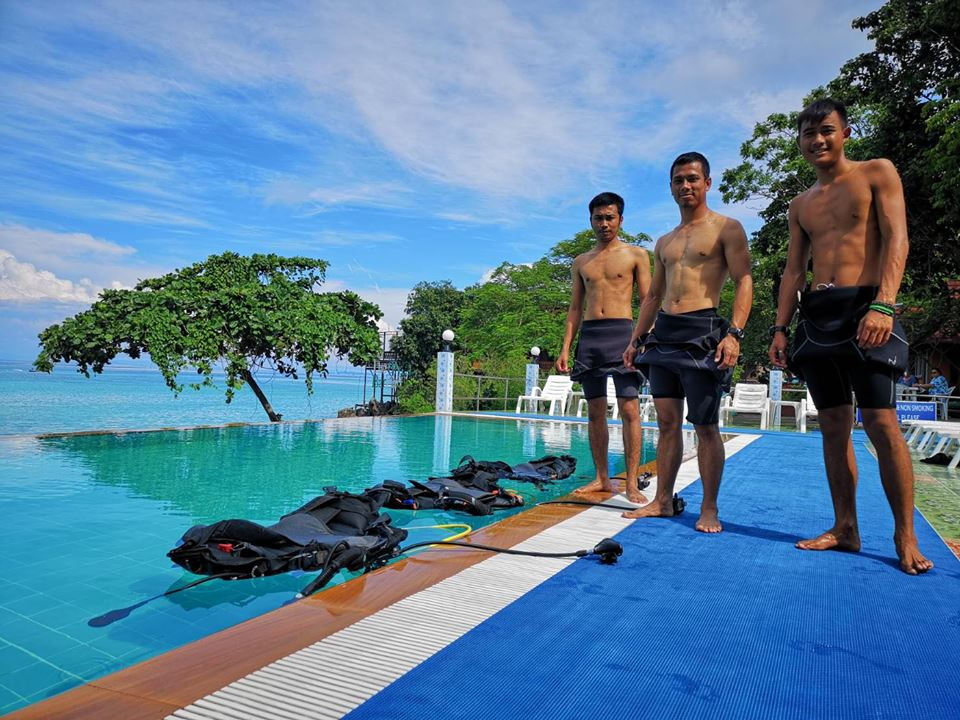 pool training open water course phi phi island