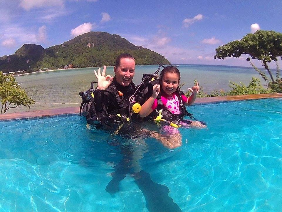 kids diving, scuba diving, phi phi