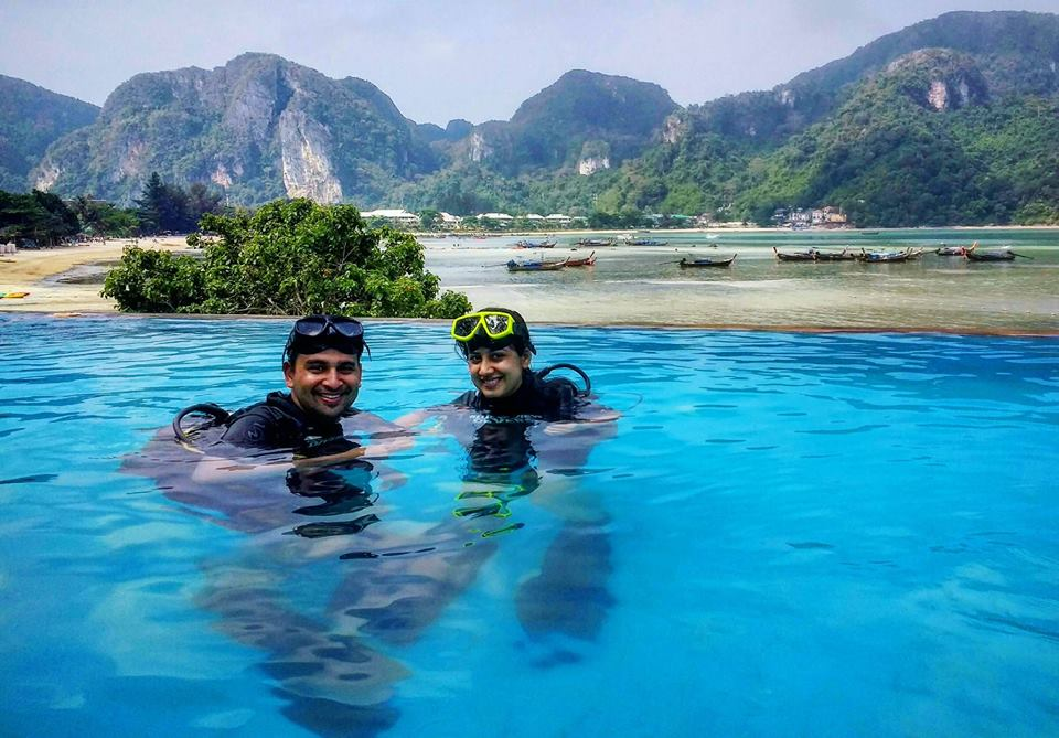 dive courses, phi phi, swimming pool