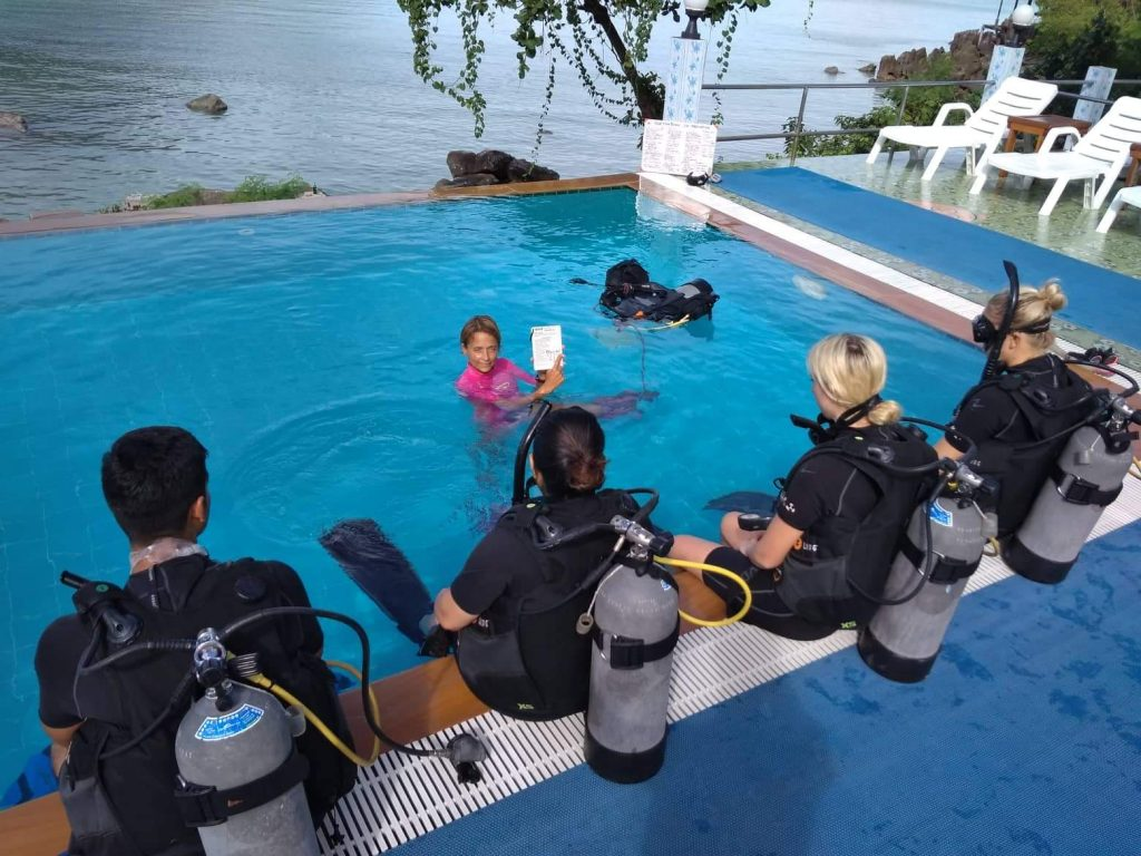 PADI open water, scuba diving, koh phi phi