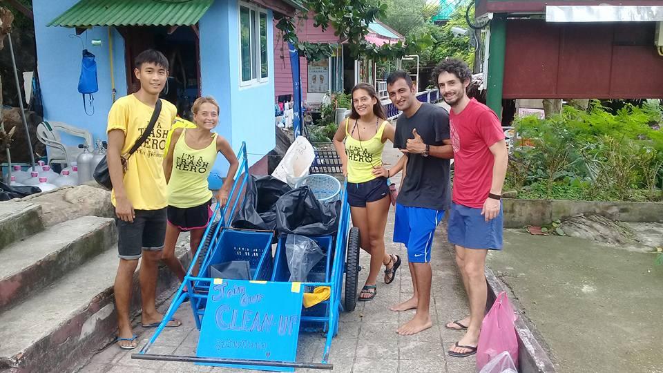 Trash hero clean up thailand phi phi