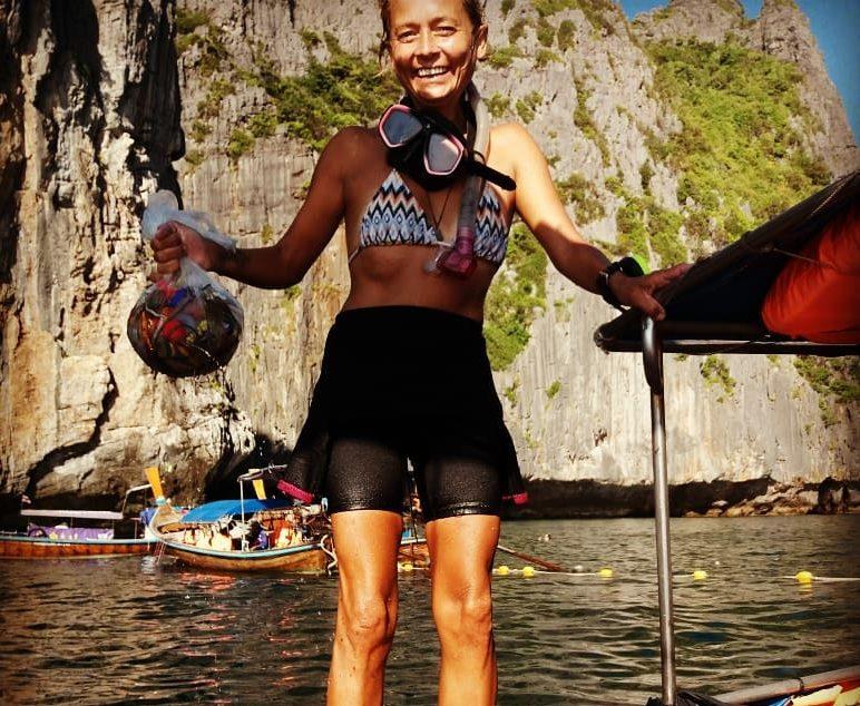 PADI specialty divers koh phi phi island trash heros