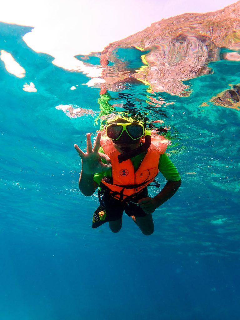 kids snorkel, phi phi, eco tour