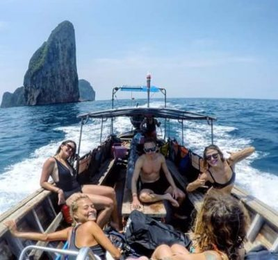 blue view divers koh phi phi longtail boat