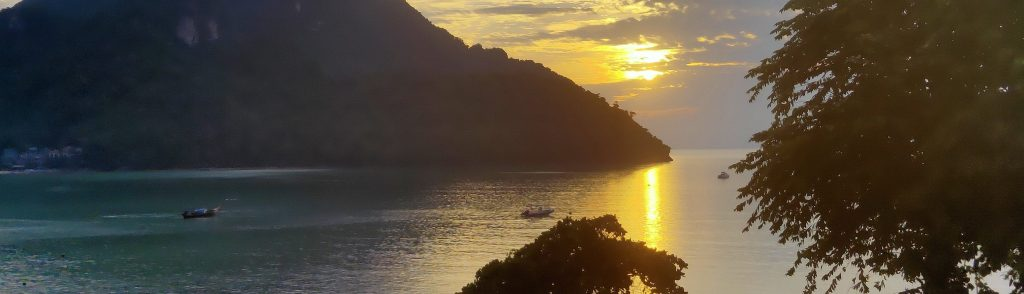 sunset view phi phi island diving courses