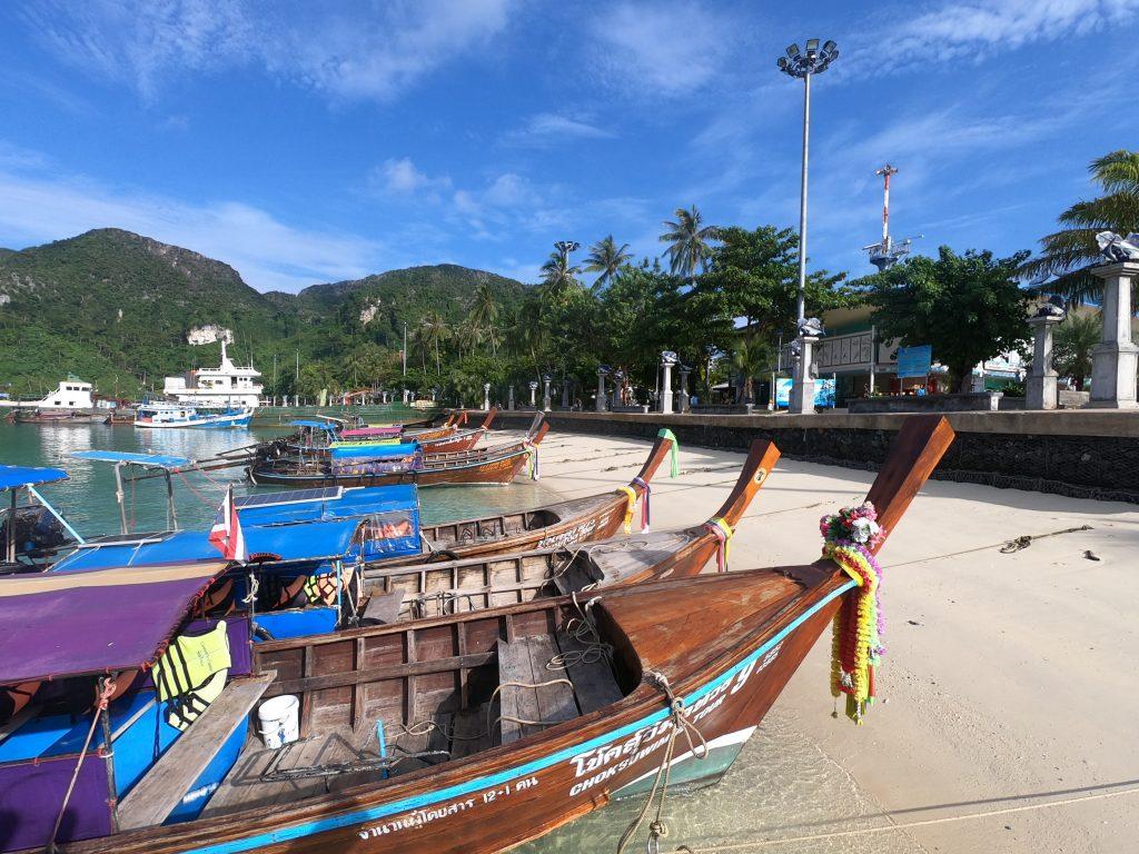 longtail boats phi phi island