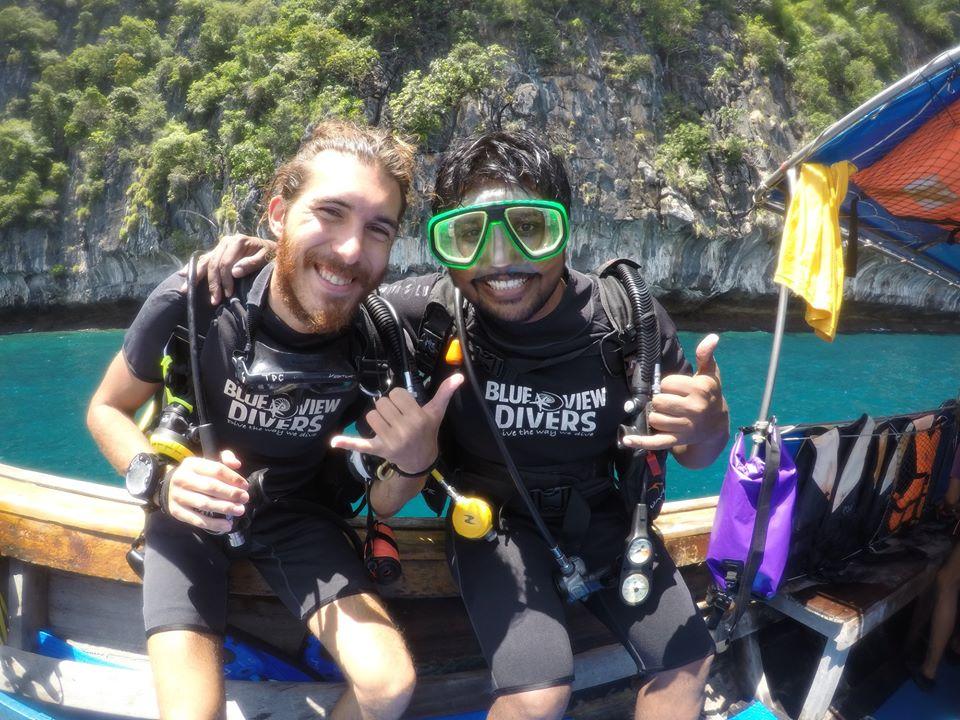 scuba review phi phi island thailand