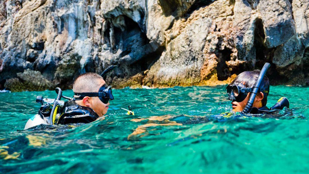 scuba diver divemaster Koh Phi Phi